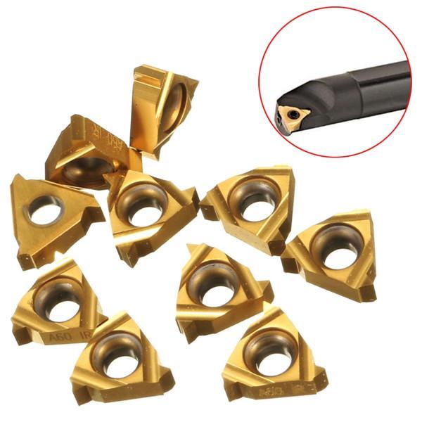 10pcs 11IR A60 Carbide Insert Internal Threading Insert For Turning Tool Holder Boring Bar