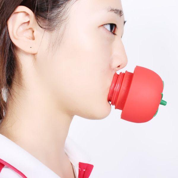 1 PC Tomate Sexy Complet lèvres pulpeuses Enhancer lèvres outil charnu outil Ou Super Suction Famille Corps Ventouses Tasses De Massage silicone
