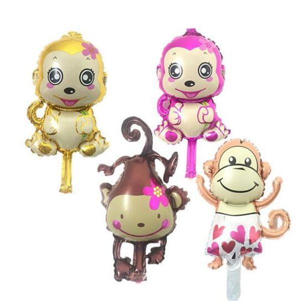 50pcsinflatable mini monkey balloon game decoration supplies ballons globos kids birthday party monkey balloon