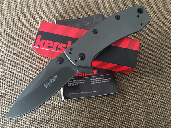 Kershaw II Assisted Opening Folding blade Knife Gray 1556TI 8Cr13Mov steel plain Flipper pocket knife knives new in original box