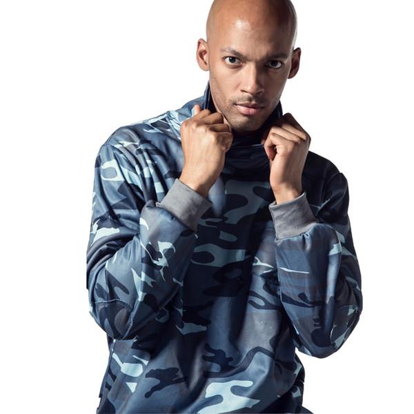2018 New Men Camouflage Hoodies Fashion Leisure Pullover Plus Size Long Sleeve Jacket Sweatshirts Sportswear Clothing