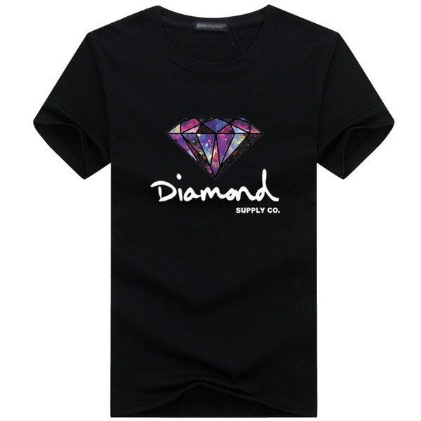 Mens Tee Shirt Print Diamond Men T-shirt Short Sleeve T Shirt Male Fashion Brand Clothing Hip Hop Camisetas Homme