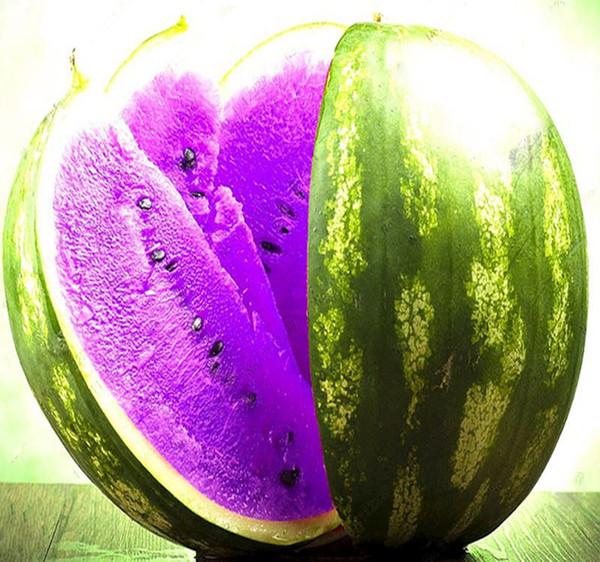 Ein Paket 50 Stücke Samen Seltene Lila Fleisch Wassermelone Samen Super Große Wassermelone Samen für Hausgarten