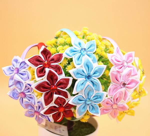 15pcs Colorful Star Flower Fascia per capelli Baby Girl Rhin Fascia per capelli Baby Bambini Principessa fascia per capelli Accessori per capelli per le ragazze