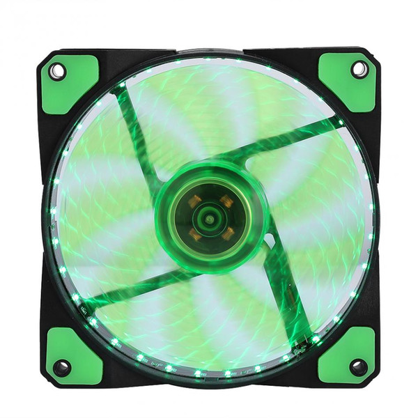 best selling LED Silent Fans Radiating Heatsink Cooler Cooling Fan For Computer PC Heat sink 120mm fan 3 Lights 12V Luminous 3Pin 4Pin Plug