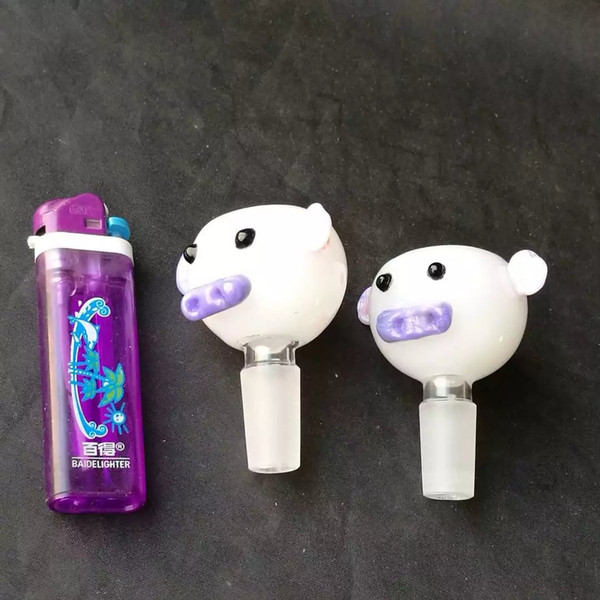 bear head cute bowl Glass Hand Smoking style good bowls free shipping nice cheap accessories bowl with cute face ears