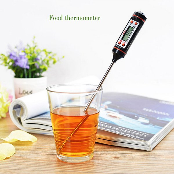 Portable Kitchen Thermometer Mini Camp Household Measure Temperature  Electronic Probe Temperature Instrument Heat And Cold TP101BBQ My Camp  Kitchen ...