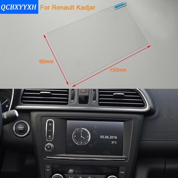 Car Styling 7 pulgadas de pantalla de navegación GPS de acero de la película protectora para Renault Kadjar Control de la pantalla LCD de la etiqueta engomada del coche 2016-2017