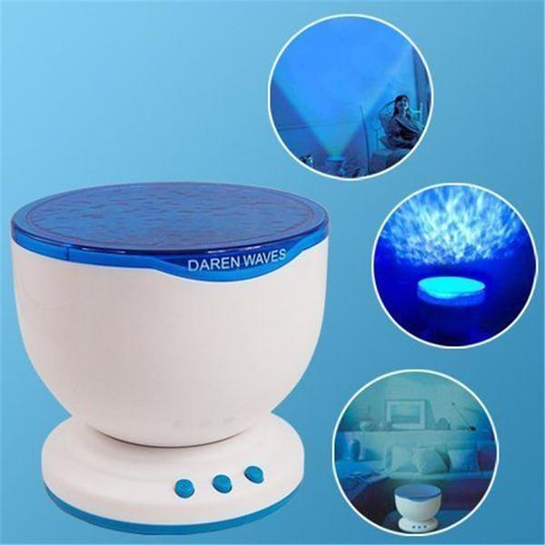 Night Light Projector Ocean Blue Sea Waves Projection Lamp With Mini Speaker Ocean Waves Night Light