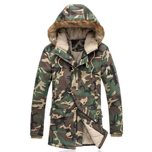 Wholesale- 2016 New Arrival Famous Brand Winter Jacket for Men Oversized 5XL Camouflage Parka Male High Quality Jaqueta Masculina Hot Sale