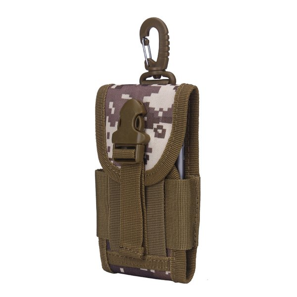 Wholesale- MOLLE Tactical Smartphone Pouch Quick Release Buckle Phone Holster for 5.7 inch Cell Phones