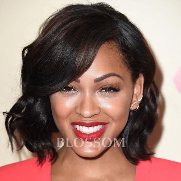 8A Full Lace Perruques de Cheveux Humains Pour les Femmes Noires Brésilienne Full Lace Wigs Perruque En Soie Top Ondulés Glueless Lace Front Perruques de Cheveux Humains