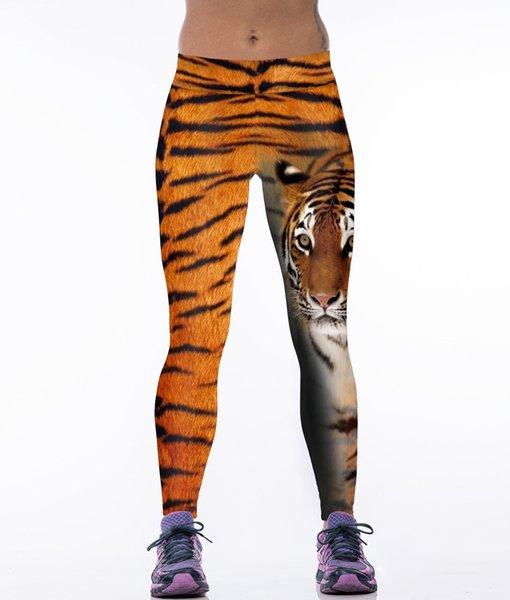 New Fashion Gym Trousers Tiger Pattern Yoga Pants Leopard 3D Print Leggings High Elastic High Waist Tights CK1097
