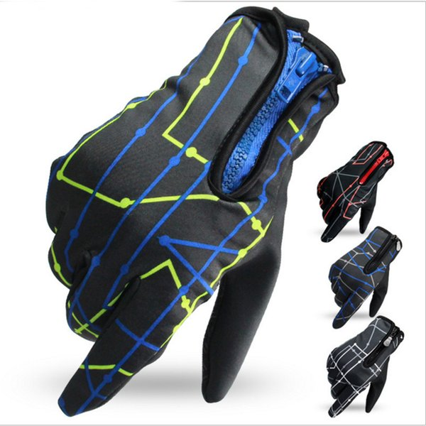 Spring New Cycing Touch Screen Bicycle Gloves Full Finger Warm Motorcycle Bike Cycling Gloves Non-slip Sport Gym Gloves Men Women