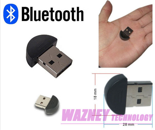 top popular 1000pcs lot *The thumb Details about NEW mini Bluetooth USB 2.0 Wireless Dongle Adapter for PC Laptop Newest support WIN10 2021