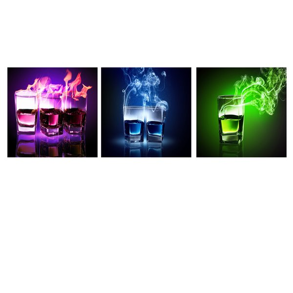 Smoky Drint Picture Printed Canvas Wall Decor Canvas Prints Artistic Photo Canvas Painting Home Wall Decor 3-panel