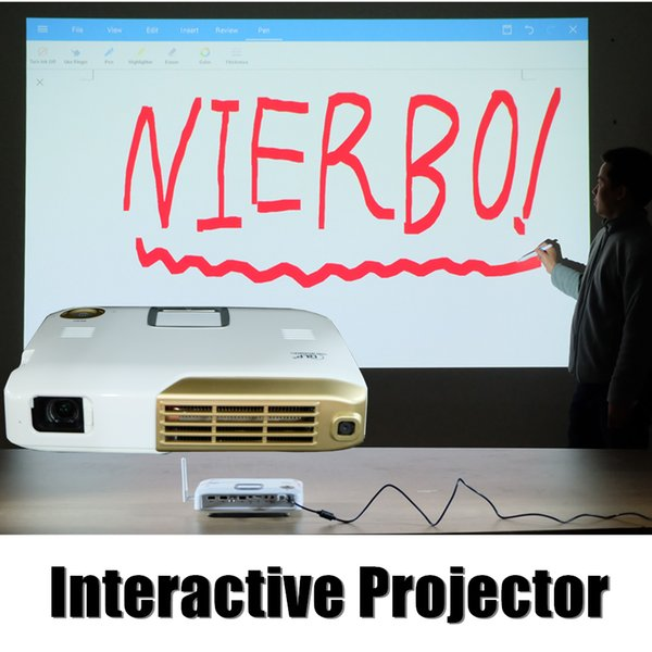 Wholesale- Mini Projector 4K Android HD Video Projector LED with Infrared Pen Electronic Interactive for Teaching School Education Business