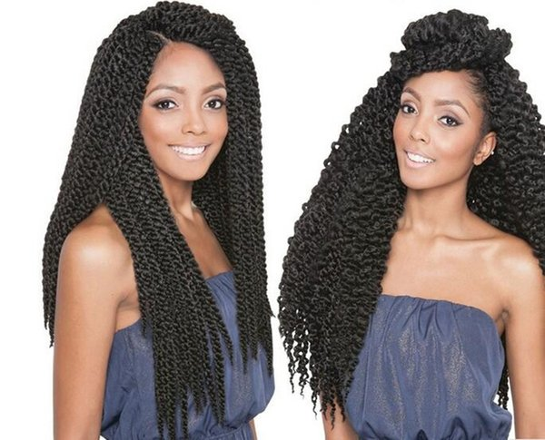 best selling Free Shipping HIGH QUALITY 3D Cubic Twist Crochet Braids Black Color Ombre Mambo Senegalese Twist synthetic hair Hair Extensions