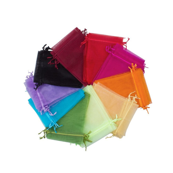 500 Piece 9 x 12 cm / Organza Gift Bags Wedding Jewelry Bags Jewelry Pouches, Pack of 100 One Color 5Pack / Lot