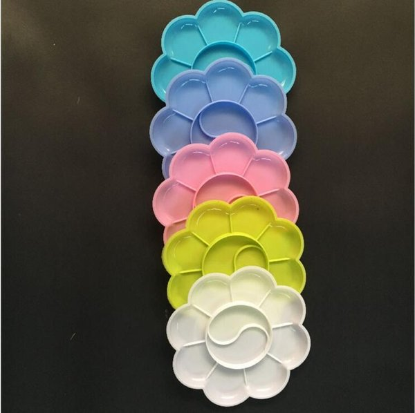 8 cm en plastique palette de peinture 5 couleurs art outils artisanat matériel de peinture fournitures de dessin jouets outils de jardin d'enfants