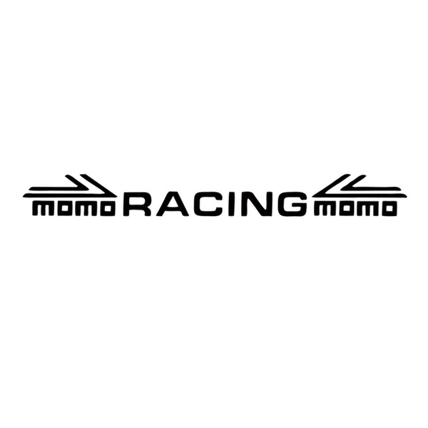 Car Styling For Momo Racing Before And After Blocking / Windshield Posted Reflective Stickers / Front / Rear Window Stickers JDM
