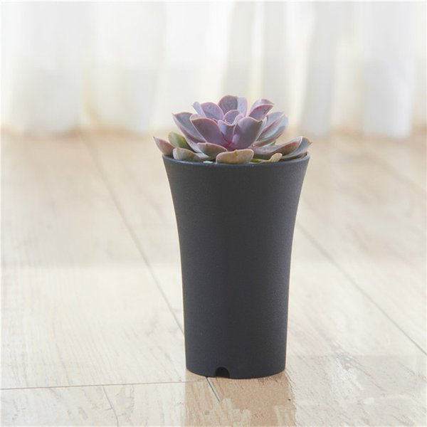 Free SF send plastic mini flower pot home office desk Indoor Potted Garden Decor Planter Root Container