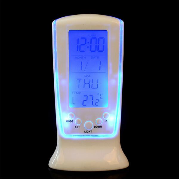Led Digital Clock Despertador Schreibtisch weiße Uhr Nacht Elektronische Uhr Platz Geschenk Für Kinder Kalender wärme PML