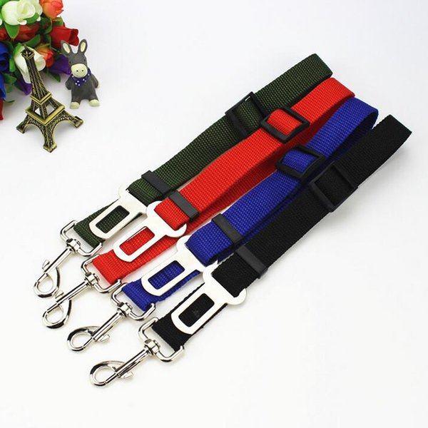 top popular 4 Colors Dog Car Harness Safety Seatbelt Adjustable Car Vehicle Safety Seatbelt Seat Belt Harness Leads Free Shipping 2020