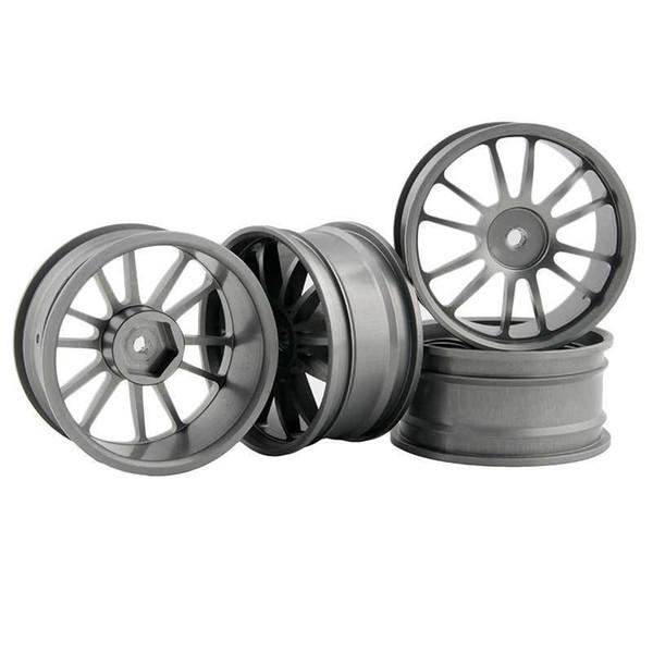 RC Aluminum Wheel 4pc D:52mm W:26mm Fit HSP HPI 1:10 On-Road Drift Car Rim 123T