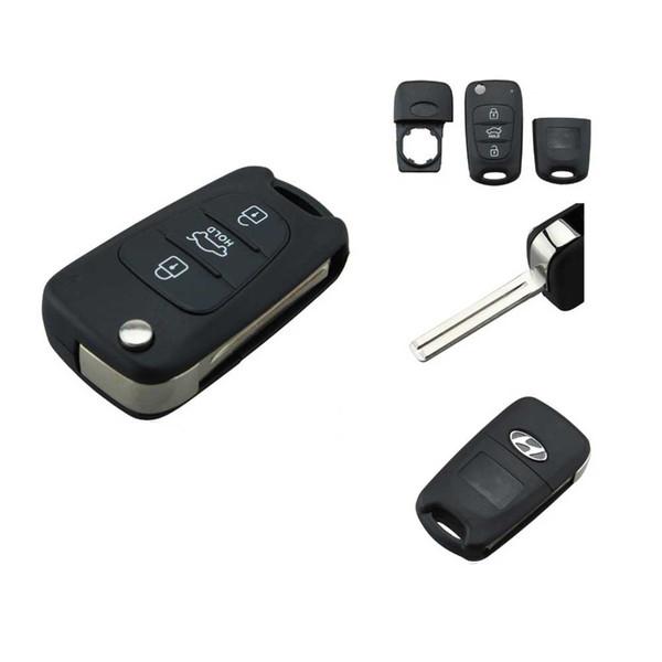Garantili 100% Hyundai i20 i30 Için 3 Düğmeler Anahtar Boşlukları ix35 Katlanır Uzaktan Anahtar Kabuk Fob Vaka Ücretsiz Nakliye Kapakları
