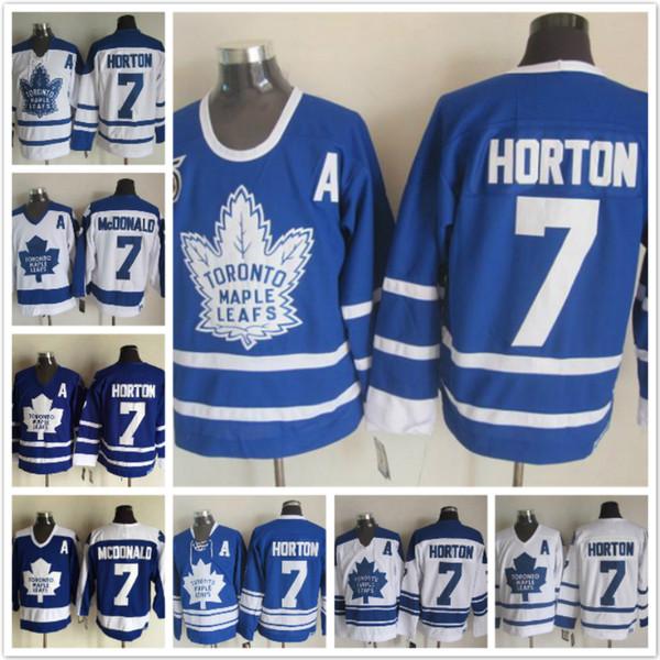 Maglie di Hockey su ghiaccio vintage di Toronto Maple 7 Tim Horton