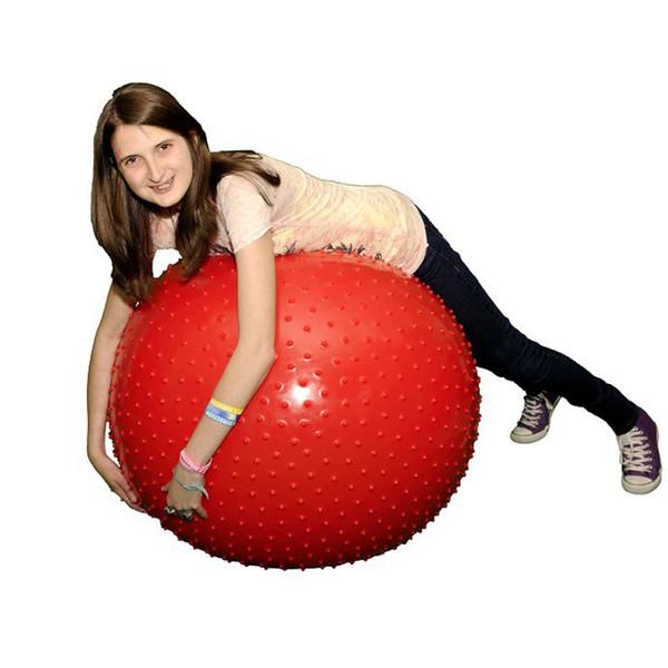Al por mayor-45cm de pérdida de peso de Fitness que adelgaza bola gimnástica PVC Inflables de explosión de la bola de Yoga con puntos de masaje 5 colores
