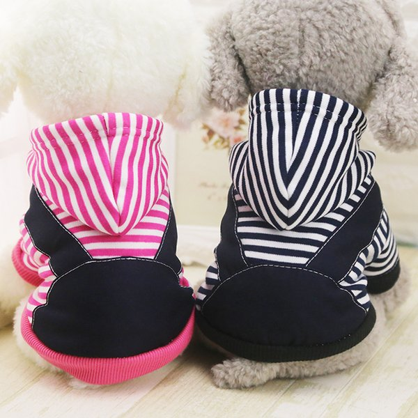 New Fashion Winter Autumn Dog Coats With Hat High Quality Fleece Jackets Pets Coats Lovely Small Pets Clothes Free Shipping