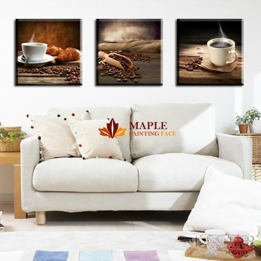 Free Shipping Hot 3 Piece wall panels Canvas Art of Coffee Nuts Modern Paintings Wall Decor Picture -- Large Canvas Prints Artwork