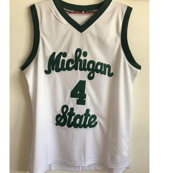 a7394bb83ed ... factory outlet 4 scott skiles basketball jersey michigan state spartans  green white customize ...