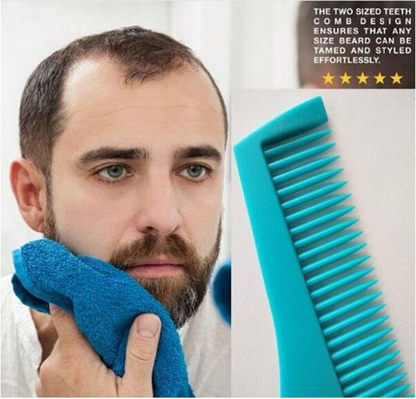 10 Colors Beard Bro Beard Shaping Tool for Perfect Lines Hair Trimmer for Men Trim Template Hair Cut Gentleman Modelling Comb