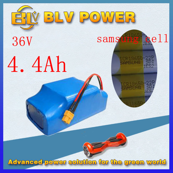 lithium battery pack 36v 4400mah for 10inch 8inch 6.5inch Electric Skateboard Smart Self Balancing Scooters inner sam-sung 18650 22P cell