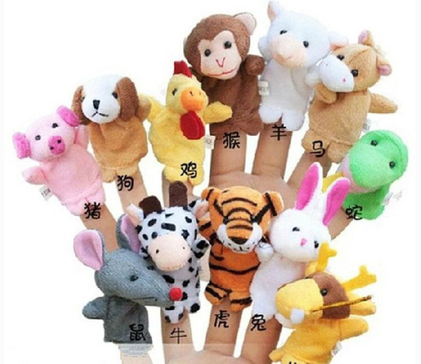 hot animals styles puppet Set Cloth toy Zodiac animals finger doll sets Finger Puppets