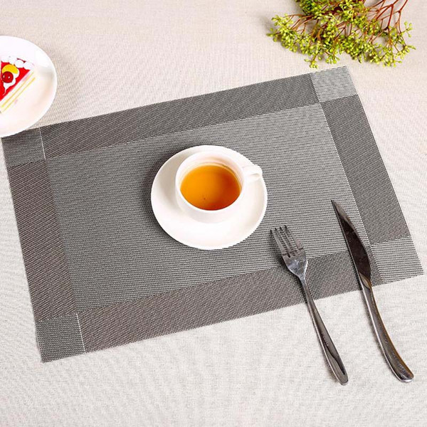 1PC 6 colors PVC kitchen dinning bamboo table Placemats Table cloth mat manteles individuales doilies cup mats coaster pad