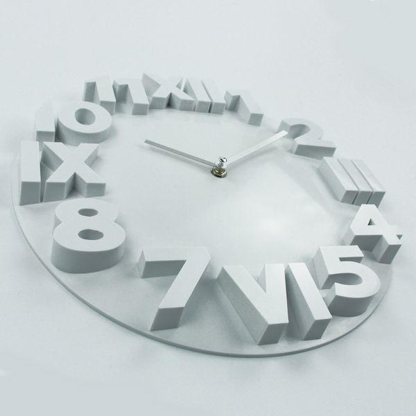 Wholesale- Fashion Home Decor Wall Clock Roman Numbers Large Plastic Wall Clocks Art Watch Horloge