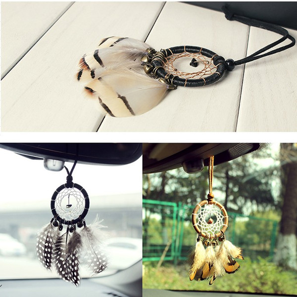 3 Styles Vintage Mini Dreamcatcher Car Hanging Home Decorations Dream Catcher Car Home Hanging with Jingle Bells Best Gifts
