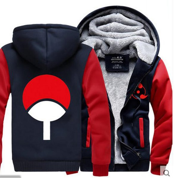 Cartoon Kids Naruto Jacket Winter Luminous Coat Anime Uchiha Sasuke Cosplay Coat Uzumaki Naruto Hoodie Sweatshirt For Big Boys