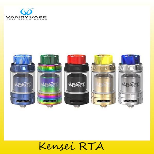 Vandy authentique Vape Kensei RTA réservoir 2 ml / 4 ml Atomiseurs de diamètre 24mm pour tube de verre Vandyvape original 100% véritable 2250014