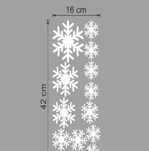 14pcs Snowflakes Window Glass Decoration Decal Wall Stickers Christmas Decor Wallpaper Poster Store Holiday Hanging Art Mural Graphic