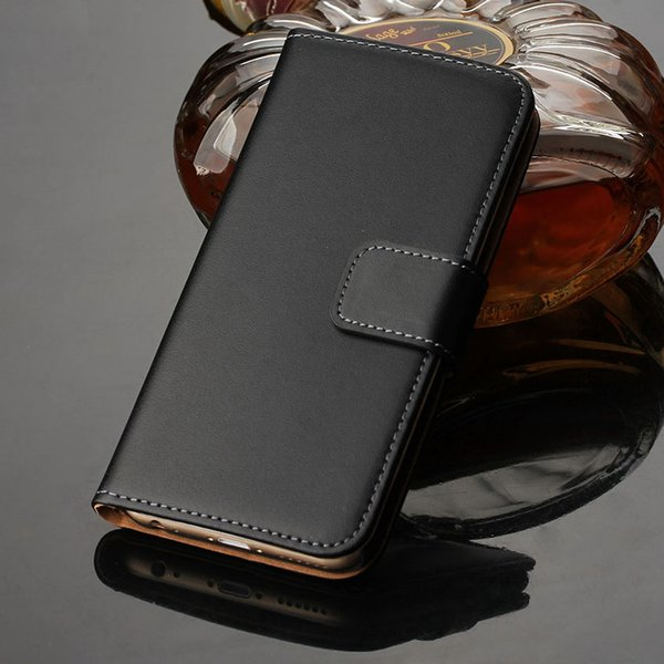 For iPhone 6s Plus Luxury Wallet Case Genuine Leather Flip Cover With Card Slots Stand Cellphone Cases For Apple iPhone 6 6s Plus