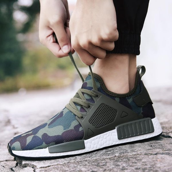 Casual Shoes Outdoor Military Camouflage Men Casual Shoes Summer Smith Men Army Green Trainers Ultra Boosts