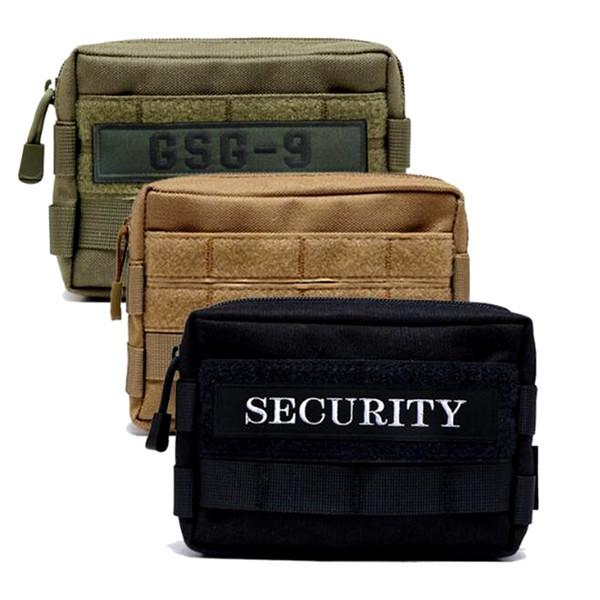 B-08 horizontal Nylon Waist Bag Universal Canvas Holster Molle Hip Waist Packs Belt Bag Wallet Pouch Purse Phone Cases For iPhone Zipper