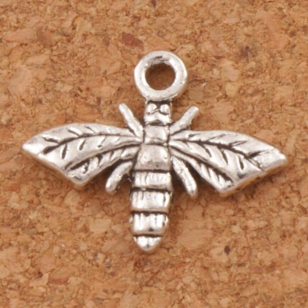 best selling Honey Bee Charm Beads Pendants 300pcs lot 17x13mm Tibetan Silver Alloy Metal Charm Jewelry DIY Hot L962