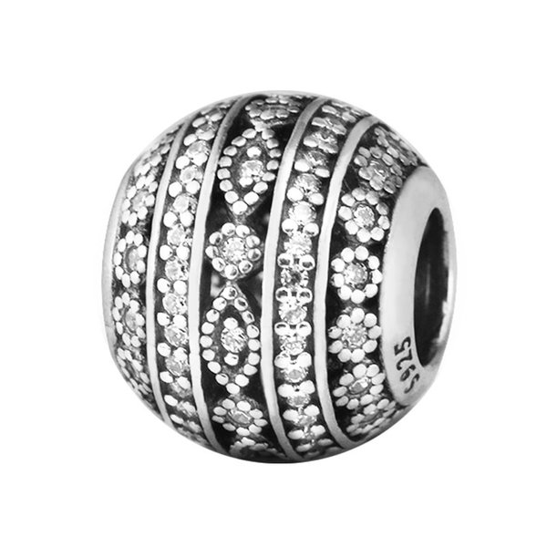 Authentic 925 Sterling Silver Jewelry Glittering Shapes Fashion Charms Beads Fits Pandora Bracelets For Women