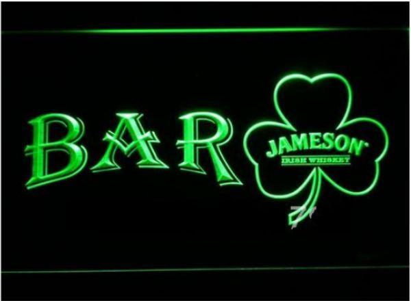 BAR Shamrock Jameson beer bar pub club 3d signs led neon light sign home decor crafts